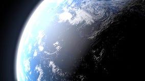 Jour et nuit sur terre illustration de vecteur