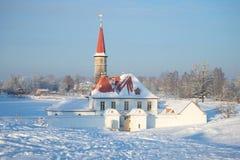 Jour froid de janvier au palais de prieuré Gatchina Image stock