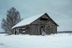 Jour froid sur les champs Photos libres de droits