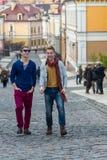 Jour gai des frères jumeaux Photographie stock libre de droits