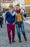 Jour gai des frères jumeaux Deux élégants et adulte bel TW Image libre de droits