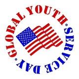 Jour global de service de la jeunesse Image stock