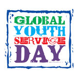 Jour global de service de la jeunesse Photo stock