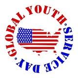 Jour global de service de la jeunesse Photo libre de droits
