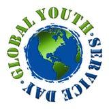 Jour global de service de la jeunesse Photographie stock