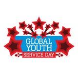 Jour global de service de la jeunesse Photos stock