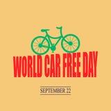 Jour gratuit de voiture du monde illustration stock