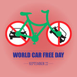 Jour gratuit de voiture du monde Image libre de droits