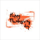 Jour heureux Autumn Traditional Holiday Banner de thanksgiving Photographie stock