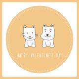 Jour heureux card6 de la valentine s Photographie stock