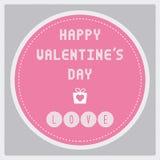 Jour heureux card17 de la valentine s Photographie stock libre de droits