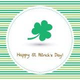 Jour heureux Card7 de St Patrick s Image libre de droits