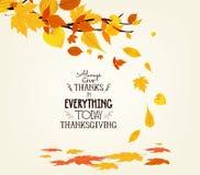 Jour heureux d'action de grâces Illustration de vecteur d'Autumn Design Image libre de droits