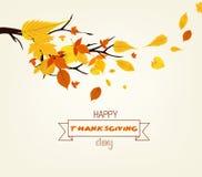 Jour heureux d'action de grâces Illustration de vecteur d'Autumn Design Photographie stock libre de droits