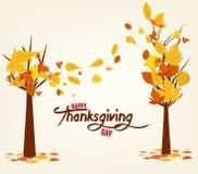 Jour heureux d'action de grâces Illustration de vecteur d'Autumn Design Fond d'arbre d'automne Photo libre de droits