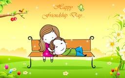 Jour heureux d'amitié illustration libre de droits