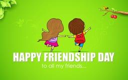 Jour heureux d'amitié illustration de vecteur