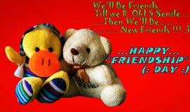Jour heureux d'amitié Images stock