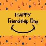 Jour heureux d'amitié avec le sourire illustration libre de droits