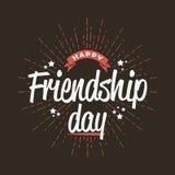 Jour heureux d'amitié - calibre pour la carte de voeux, logo, affiche, bannière Vecteur Images stock