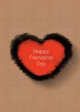 Jour heureux d'amitié, concept de coeur Photographie stock libre de droits