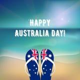 Jour heureux d'Australie illustration de vecteur