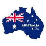 Jour heureux d'Australie illustration stock