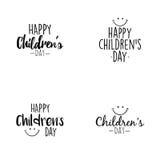 Jour heureux d'enfants Photo libre de droits