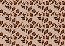 Jour heureux de chocolat, carte sans couture de vecteur illustration stock