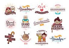 Jour heureux de grands-parents Image libre de droits