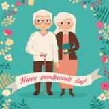 Jour heureux de grands-parents Images libres de droits
