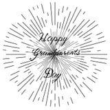 Jour heureux de grands-parents, lettrage tiré par la main, vecteur Photos stock