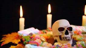 Jour heureux de Halloween avec la longueur d'ornement banque de vidéos