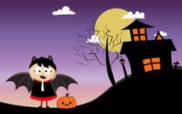 Jour heureux de Halloween avec le garçon photos libres de droits