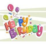 Jour heureux de naissance Image stock