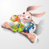 Jour heureux de Pâques Illustration Stock