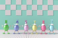 Jour heureux de Pâques Image libre de droits