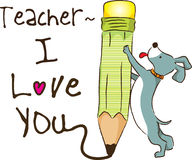 Jour heureux de professeurs Photos stock
