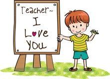 Jour heureux de professeurs Images libres de droits