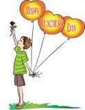 Jour heureux de professeurs Photo stock