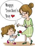 Jour heureux de professeurs Photographie stock