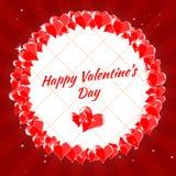 Jour heureux de Valentine s de carte de voeux, coeurs, images stock