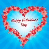 Jour heureux de Valentine s de carte de voeux, coeurs, photo stock