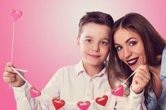Jour heureux de valentines, de mère ou de femme photo stock