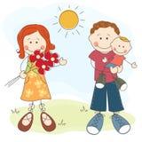Jour heureux du père s Image libre de droits