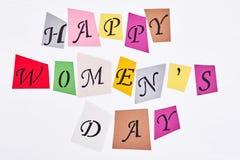 Jour heureux du ` s de femme Images stock