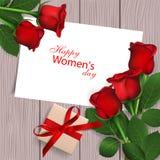 Jour heureux du ` s de femmes Photos libres de droits