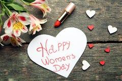 Jour heureux du ` s de femmes d'inscription Photos libres de droits