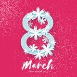 Jour heureux du ` s de femmes Le bouganvilla de papier de Flower Origami 8 mars Photos libres de droits