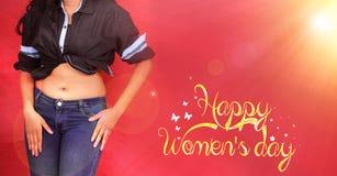 Jour heureux du ` s de femmes, le 8 mars jour international du ` s de femmes Photographie stock libre de droits